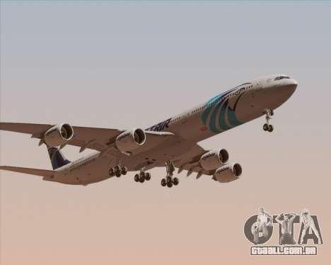 Airbus A340-600 EgyptAir para GTA San Andreas esquerda vista