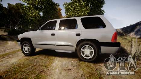 Dodge Durango 2000 Undercover [ELS] para GTA 4 esquerda vista