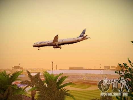 Airbus A321-232 jetBlue La vie en Blue para GTA San Andreas vista superior