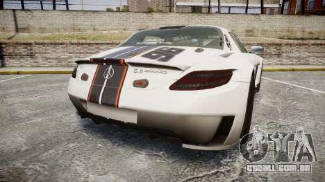 Mercedes-Benz SLS AMG GT-3 low para GTA 4 traseira esquerda vista