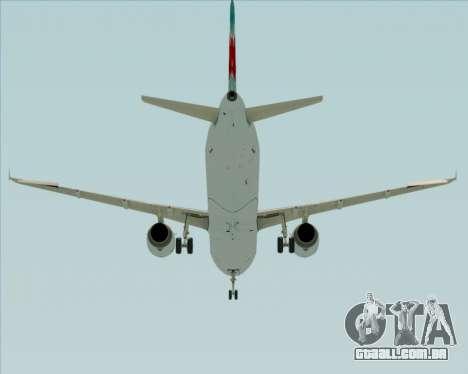 Airbus A321-200 Air Canada para vista lateral GTA San Andreas