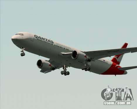 Boeing 767-300ER Qantas (New Colors) para GTA San Andreas traseira esquerda vista