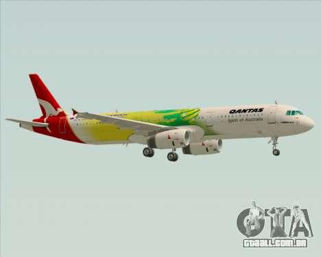 Airbus A321-200 Qantas (Socceroos Livery) para GTA San Andreas vista inferior