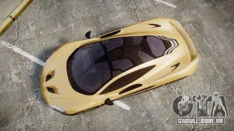 McLaren P1 [EPM] para GTA 4 vista direita