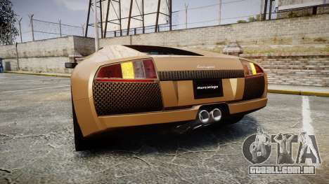 Lamborghini Murcielago 2005 para GTA 4 traseira esquerda vista