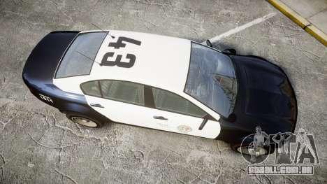 GTA V Cheval Fugitive LS Police [ELS] Slicktop para GTA 4 vista direita