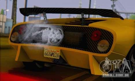 Pegassi Infernus para GTA San Andreas traseira esquerda vista