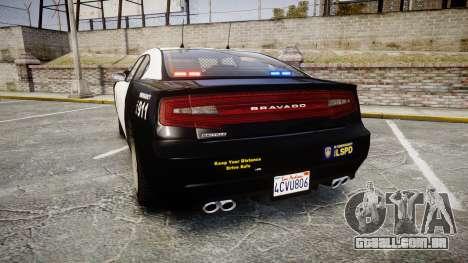 GTA V Bravado Buffalo LS Police [ELS] Slicktop para GTA 4 traseira esquerda vista