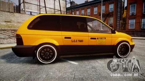 Schyster Cabby Taxi para GTA 4 esquerda vista