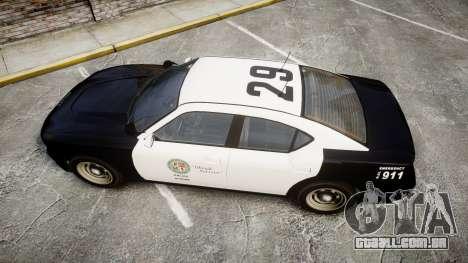 GTA V Bravado Buffalo LS Police [ELS] Slicktop para GTA 4 vista direita