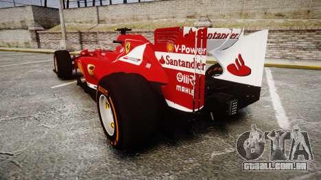 Ferrari F138 v2.0 [RIV] Massa THD para GTA 4 traseira esquerda vista