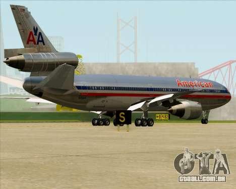 McDonnell Douglas DC-10-30 American Airlines para GTA San Andreas vista inferior