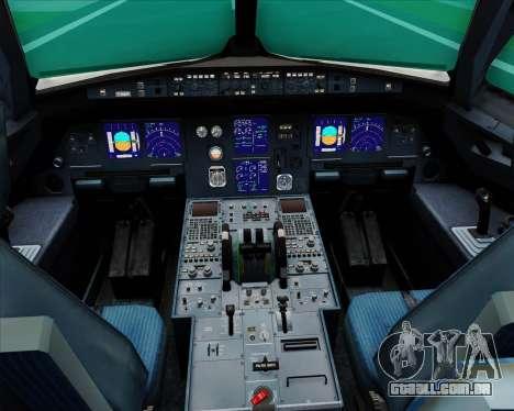 Airbus A321-200 United Airlines para GTA San Andreas interior