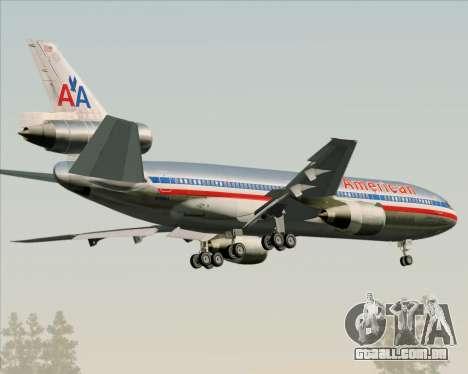 McDonnell Douglas DC-10-30 American Airlines para GTA San Andreas vista direita
