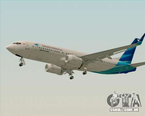 Boeing 737-800 Garuda Indonesia para GTA San Andreas vista interior
