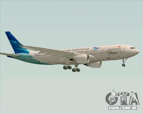Airbus A330-243 Garuda Indonesia para GTA San Andreas vista direita