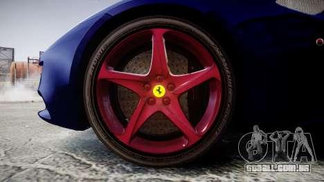 Ferrari FF 2012 Pininfarina Blue para GTA 4 vista de volta