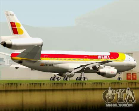 McDonnell Douglas DC-10-30 Iberia para GTA San Andreas traseira esquerda vista