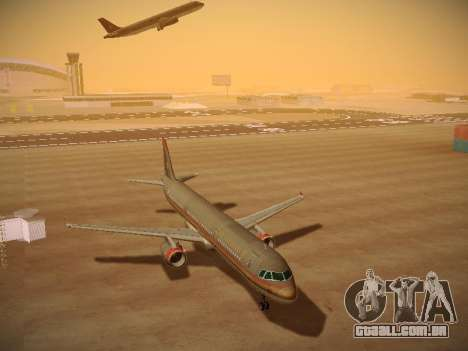 Airbus A321-232 Royal Jordanian Airlines para GTA San Andreas vista traseira