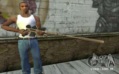 Sniper Rifle Cheytac M200 Intervenção para GTA San Andreas terceira tela