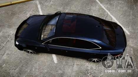 Lexus IS 350 F-Sport 2014 Rims2 para GTA 4 vista direita