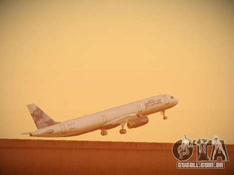 Airbus A321-232 jetBlue La vie en Blue para GTA San Andreas vista inferior