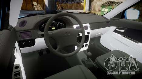 VAZ-2170 Priora Coisas para GTA 4 vista interior
