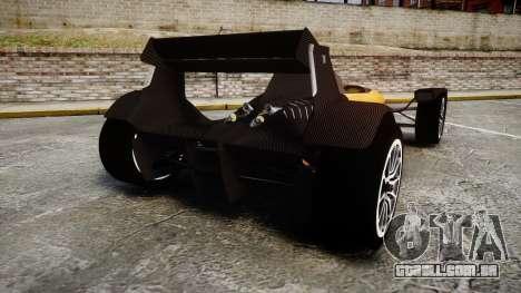 Caparo T1 para GTA 4 traseira esquerda vista