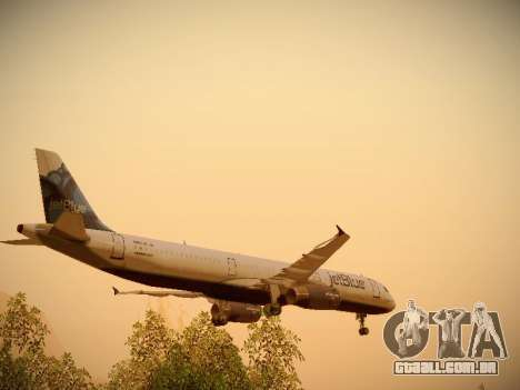 Airbus A321-232 jetBlue La vie en Blue para as rodas de GTA San Andreas