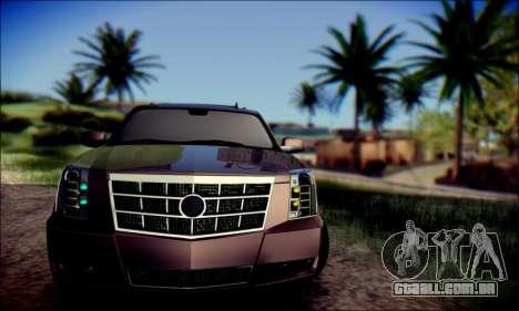 Cadillac Escalade Ninja para GTA San Andreas esquerda vista
