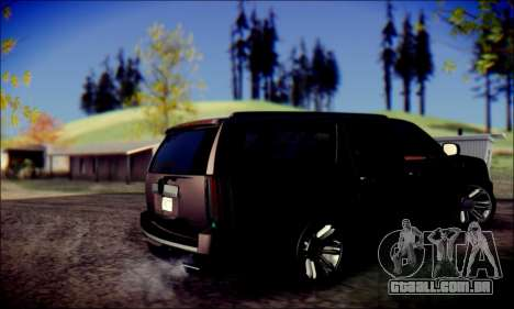 Cadillac Escalade Ninja para GTA San Andreas vista direita