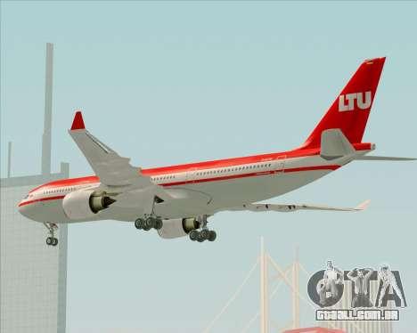 Airbus A330-200 LTU International para GTA San Andreas vista superior