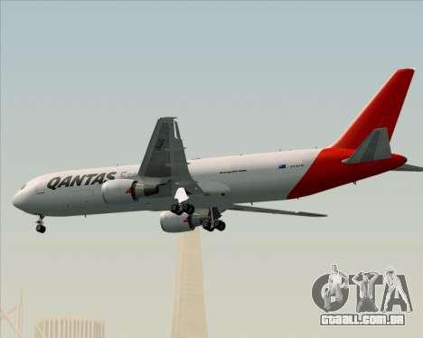 Boeing 767-300F Qantas Freight para GTA San Andreas vista superior