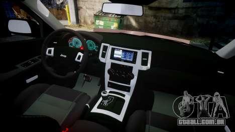 Jeep Grand Cherokee SRT8 rim lights para GTA 4 vista de volta