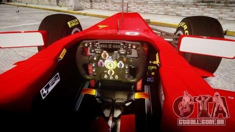 Ferrari 150 Italia Massa para GTA 4 vista de volta
