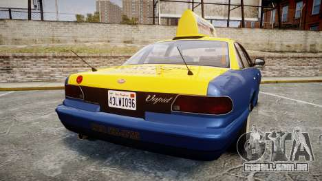 Vapid Stanier Taxi DCC para GTA 4 traseira esquerda vista