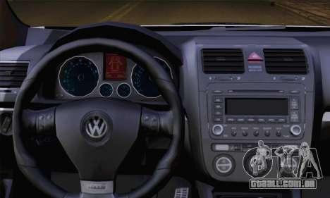 Volkswagen Golf 5 (ELM) para GTA San Andreas traseira esquerda vista