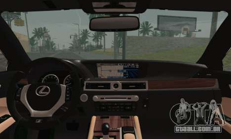 Lexus GS350 F Sport 2013 para GTA San Andreas traseira esquerda vista