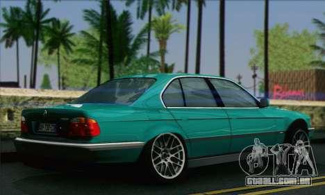 BMW 7-series para GTA San Andreas esquerda vista