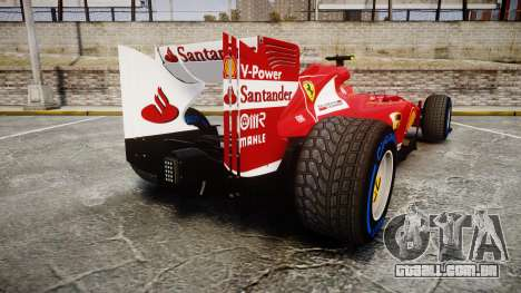 Ferrari F138 v2.0 [RIV] Massa TFW para GTA 4 traseira esquerda vista