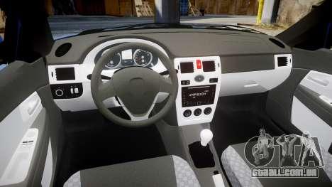 VAZ-2170 Priora runoff para GTA 4 vista interior