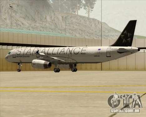 Airbus A321-200 Air New Zealand (Star Alliance) para GTA San Andreas