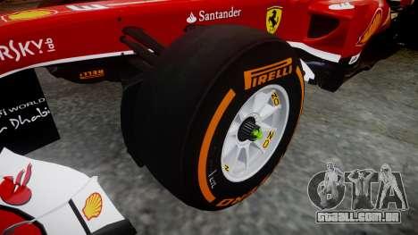 Ferrari F138 v2.0 [RIV] Massa THD para GTA 4 vista de volta
