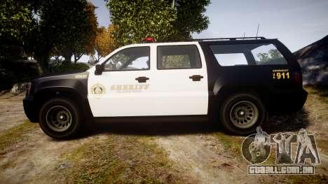 GTA V Declasse Granger LSS Black [ELS] para GTA 4 esquerda vista