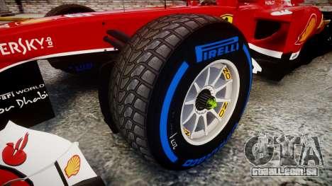 Ferrari F138 v2.0 [RIV] Massa TFW para GTA 4 vista de volta
