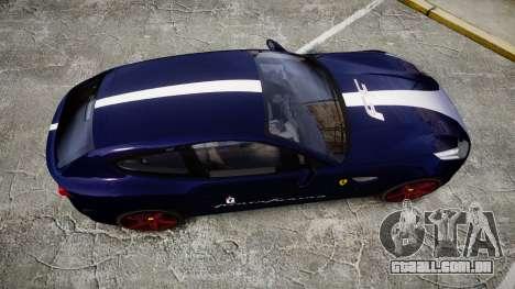 Ferrari FF 2012 Pininfarina Blue para GTA 4 vista direita