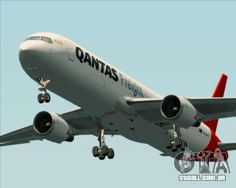 Boeing 767-300F Qantas Freight para GTA San Andreas esquerda vista