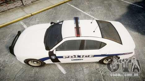 GTA V Bravado Buffalo Liberty Police [ELS] para GTA 4 vista direita
