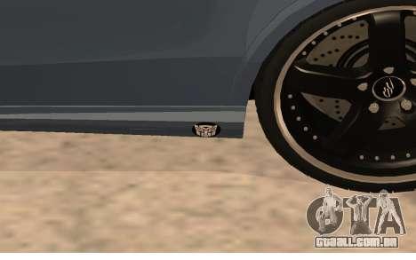 Mercedes-Benz W212 (Wheeljack from TF 3) para GTA San Andreas vista traseira