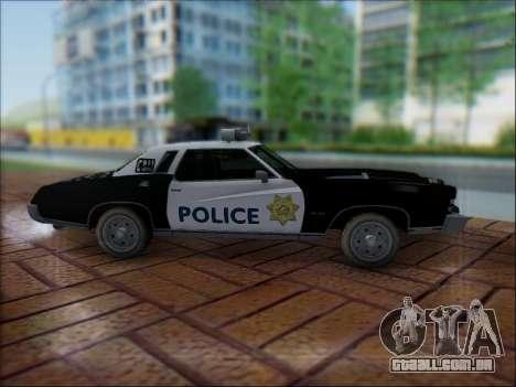 Chevrolet Monte Carlo 1973 Police para GTA San Andreas vista interior
